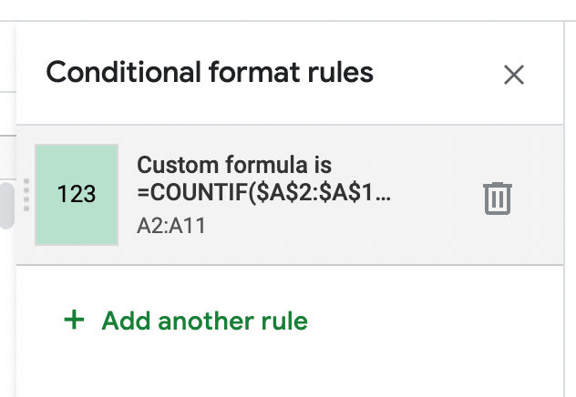 You can also remove highlighting rules from the Conditional Formatting sidepane